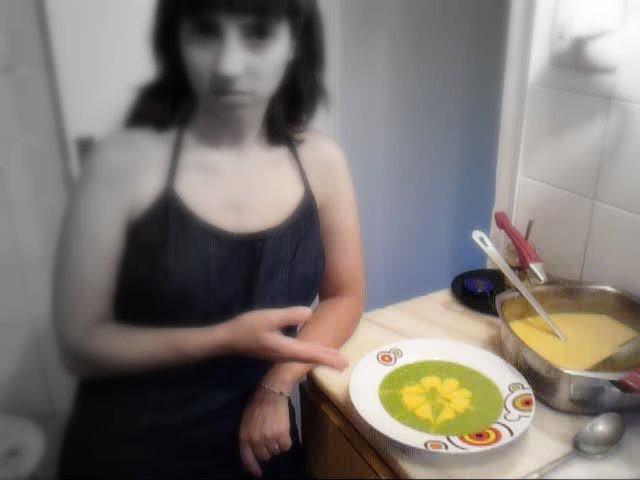 Sopa de espinacas y calabaza