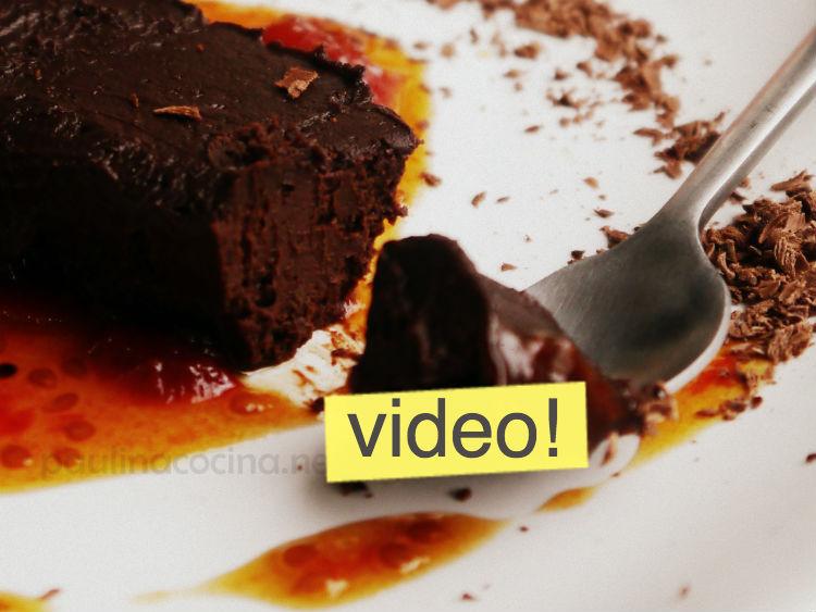 postres frios Postres Veganos: Terrina de chocolate