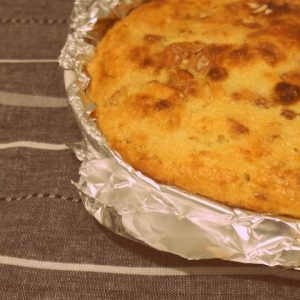 Tarta de manzana dorada