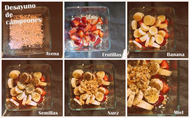 Ideas para un desayuno saludable: Frutas con avena y semillas