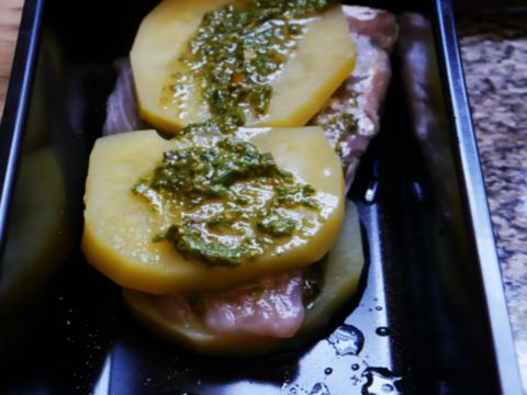 pescado al horno anchoas