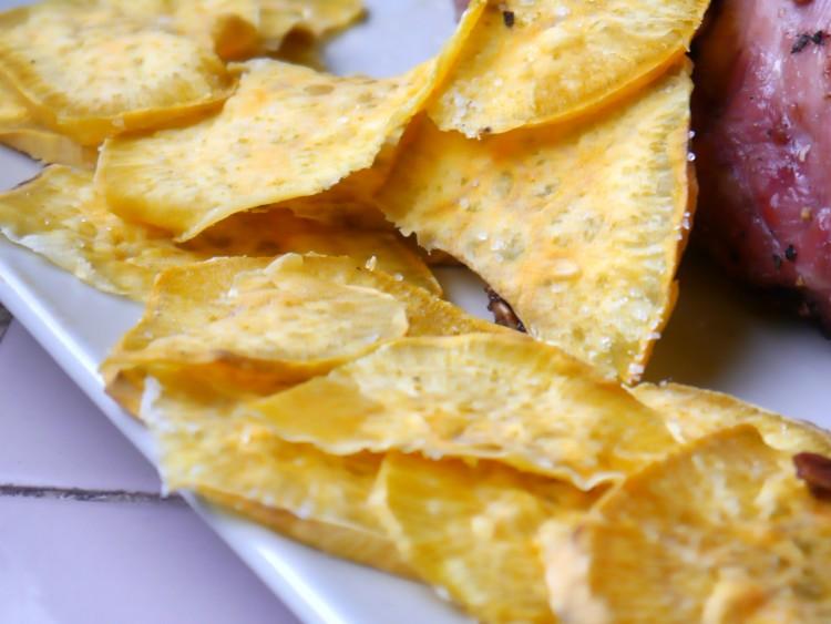 chips de batata al microondas