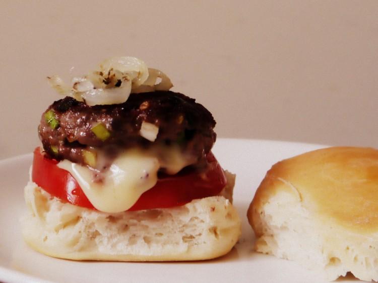 hamburguesas rellenas de queso