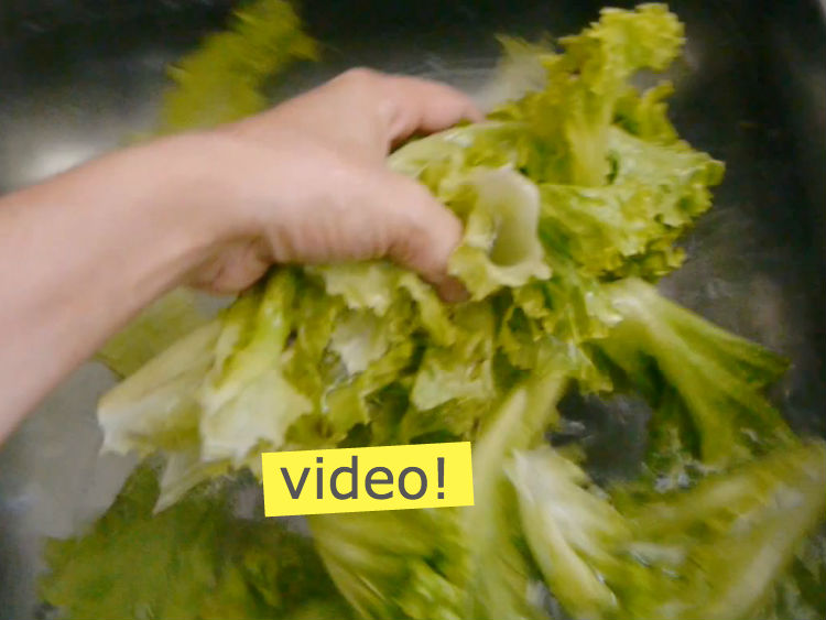 cómo lavar verduras