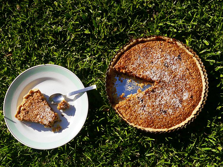tarta de avena y chocolate