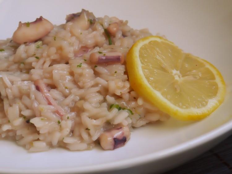 Arroz con calamares: Arroz meloso al limón con calamar