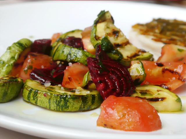 ensalada tibia verduras a la plancha