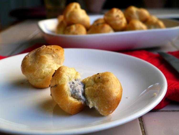 Profiteroles salados ideales para llevar paulina cocina - Profiteroles salados rellenos ...