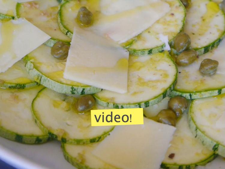 ensaladas de verano carpaccio de calabacin