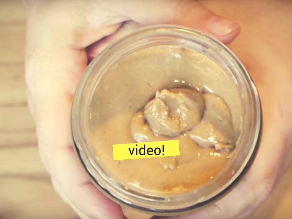 como hacer mantequilla de mani