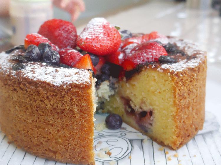 torta rústica de frutos rojos