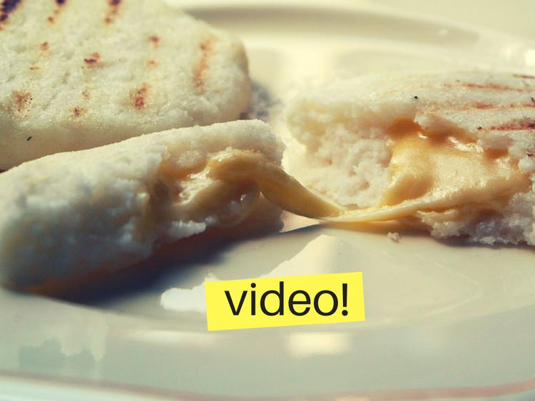 Arepas colombianas con queso