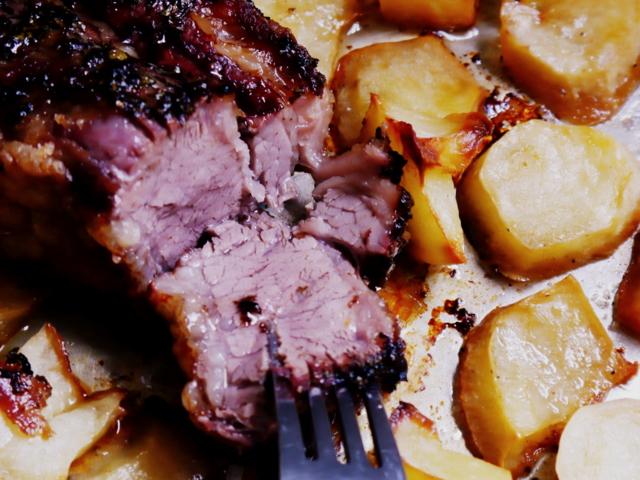 Carne al horno fuente de Zinc