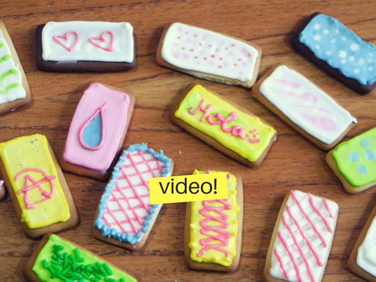 Decorar galletas con glasé real