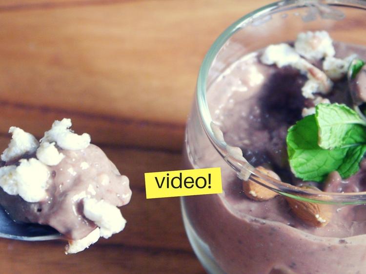 Postre de chocolate sin azucar