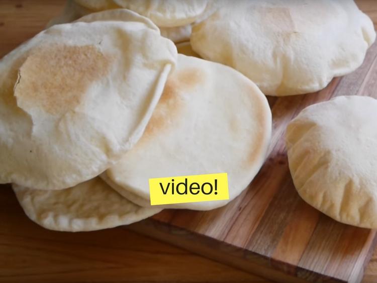Receta de pan arabe