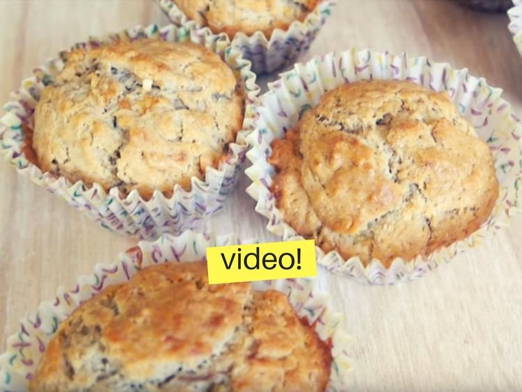 Muffins integrales sin azúcar