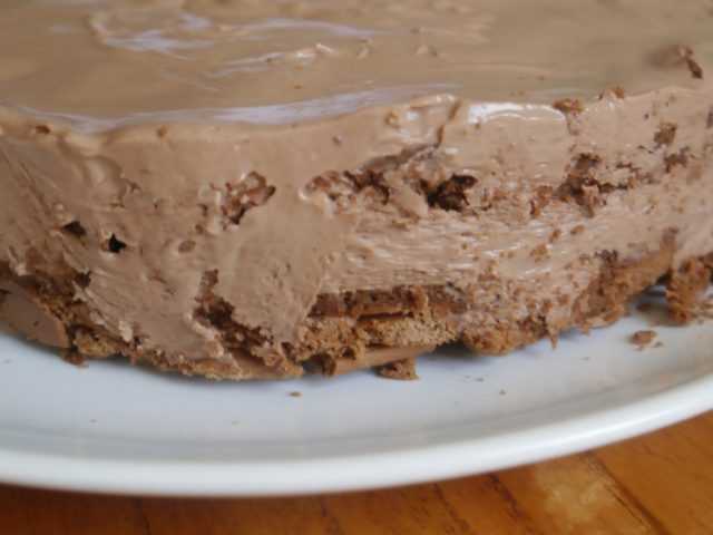 Torta de chocolate tipo cheeecake