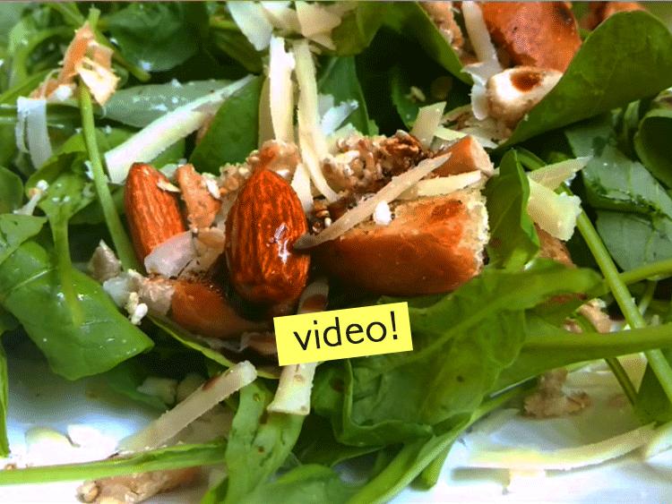 ensalada con rúcula