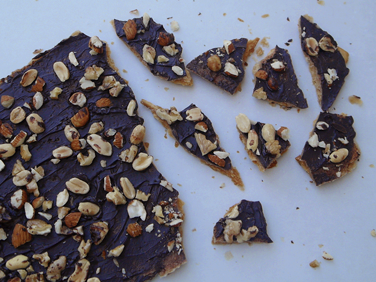 crocante de chocolate