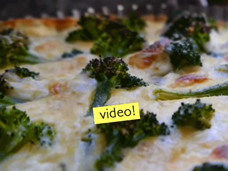 tarta brocoli queso