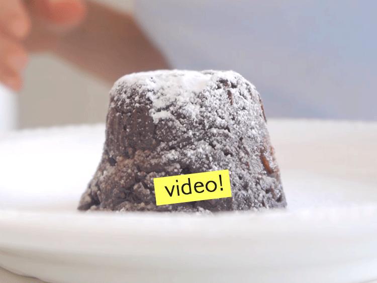 Volcan de chocolate sin azúcar