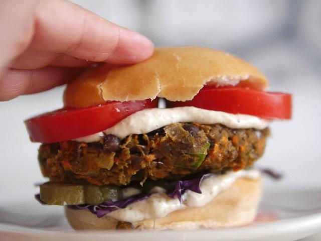 hamburguesas de lentejas