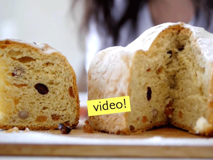 receta de pan dulce sin azúcar